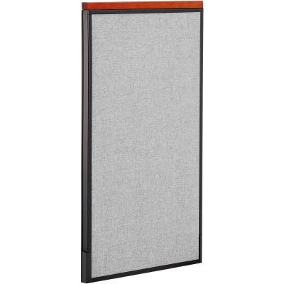 """Interion® Deluxe Office Partition Panel, 24-1/4""""W x 43-1/2""""H, Gray"""