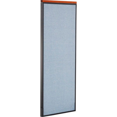 "Interion® Deluxe Office Partition Panel, 24-1/4""W x 61-1/2""H, Blue"