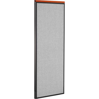 """Interion® Deluxe Office Partition Panel, 24-1/4""""W x 61-1/2""""H, Gray"""