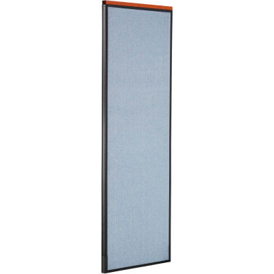 "Interion® Deluxe Office Partition Panel, 24-1/4""W x 73-1/2""H, Blue"