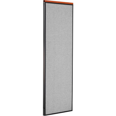 "Interion® Deluxe Office Partition Panel, 24-1/4""W x 73-1/2""H, Gray"