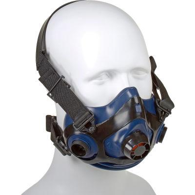 Honeywell RU8800 Half Mask, Triple Flange Silicone Half Mask, Size Medium/Large