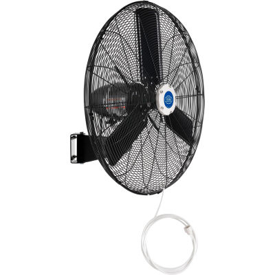 """Global Industrial™ 30"""" Wall Mounted Misting Fan, Outdoor Rated, Oscillating, 8400 CFM, 3/10 HP"""