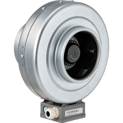 """Global Industrial™ 6"""" Inline Duct Fan - Galvanized Steel - Energy Star Rated- 291 CFM"""