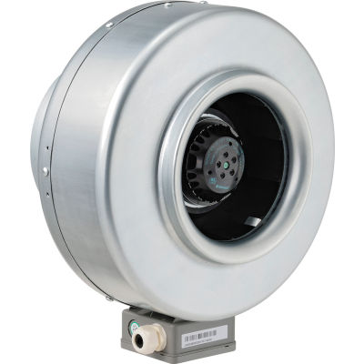 """Global Industrial™ 8"""" Inline Duct Fan - Galvanized Steel - Energy Star Rated - 541 CFM"""