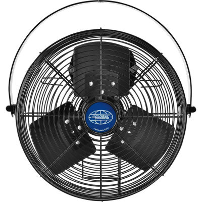 "Global Industrial™ 12"" Industrial Workstation Fan, Outdoor Rated, Yoke Mount, 1855 CFM, 1/15 HP"