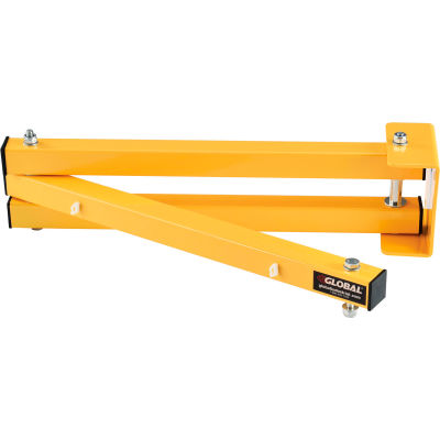"""Global Industrial™ Dock Light, 40"""" Reach W/ Mounting Kit, HD 1.5"""" Square Tubing, Arm Only"""