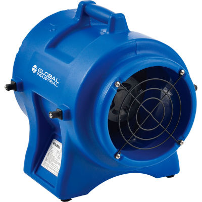 """Global Industrial™ 8"""" Confined Space Vent Fan, Rotomold Plastic, 1000 CFM, 1/3 HP"""