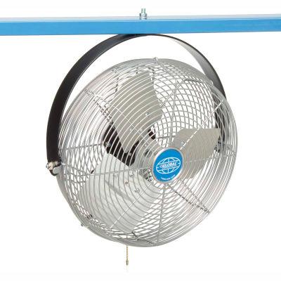 """Global Industrial™ 12"""" Industrial Workstation Fan, Yoke Mount, 1855 CFM, 1/15 HP"""