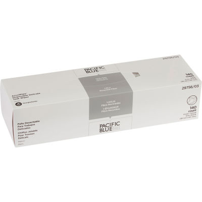 GP AccuWipe White Recycled 1-Ply Delicate Task Wipers, 140 Sheets/Box, 20 Boxes/Case - 29756/03