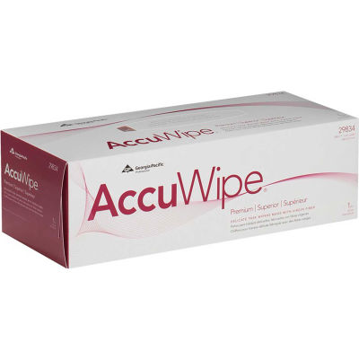 GP AccuWipe White Premium 1-Ply Delicate Task Wipers, 290 Sheets/Box, 15 Boxes/Case - 29834