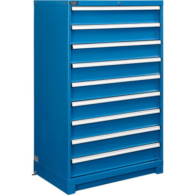 """Global Industrial™ 9-Drawer Modular Cabinet Without Dividers, Lock Included, 36""""W x 24""""D x 57""""H"""
