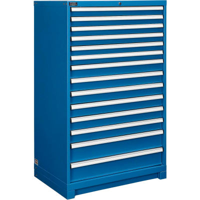 "Global Industrial™14-Drawer Modular Cabinet Without Dividers, Lock Included, 36""W x 24""D x 57""H"