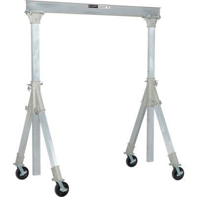 "Global Industrial ™ Adjustable Height Aluminum Gantry Crane, 7'8""W x 7'8""-10'2""H, 2000 Lb. Cap."