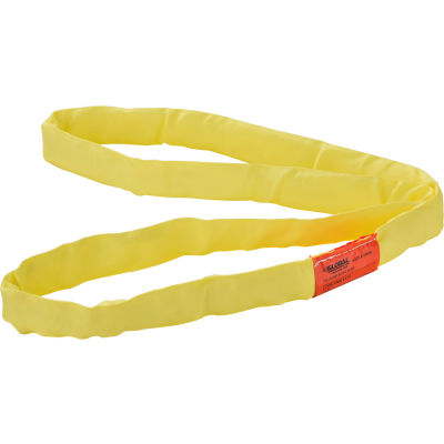 Global Industrial™Polyester Round Sling, Endless, 4 ft. x 1.5 in, 8400/6700/16800 Lbs Cap