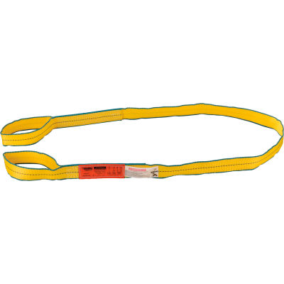Global Industrial™Poly Web Sling, HD, Eye&Eye w/ Durable Edge, 8Ft L-3200/2500/6400 Lbs Cap