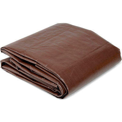 Global Industrial™ 12' x 30' Super Heavy Duty 8 oz. Tarp Brown