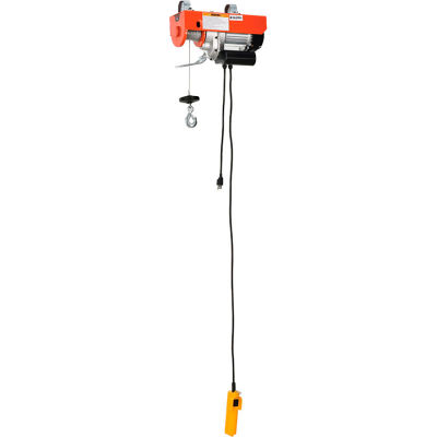 Global Industrial™ Electric Cable Hoist, 880 Lb. Capacity
