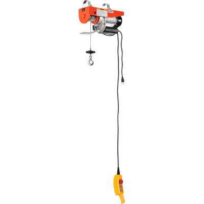 Global Industrial™ Electric Cable Hoist, 1500 Lb. Capacity
