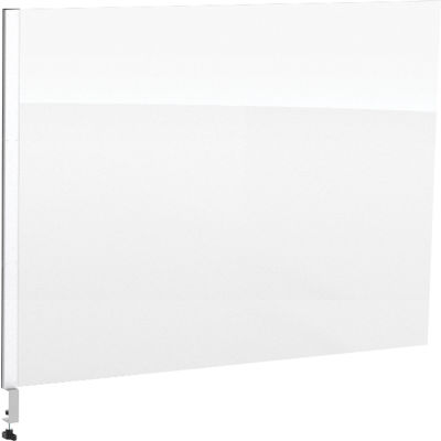 "Global Industrial™ Cashier Shield 48""L X 36""H Add-On, With Center Clamp On Base, Silver"
