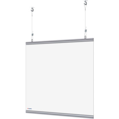 "Global Industrial™ Hanging Cashier Shield, 28""W x 22""H, 2/Pack"