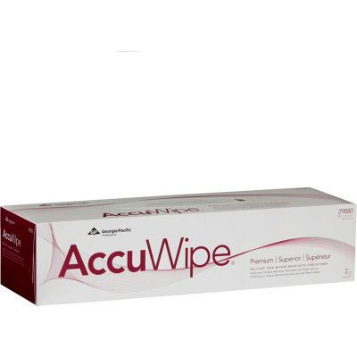 GP AccuWipe White Premium 2-Ply Delicate Task Wipers, 90 Sheets/Box, 15 Boxes/Case - 29880