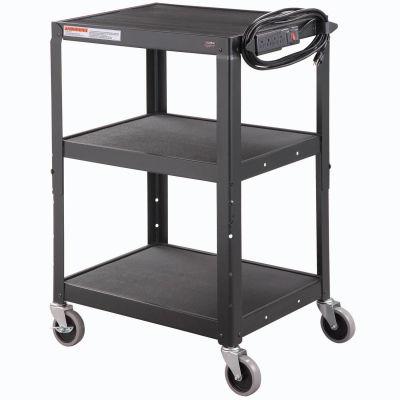 Global® Industrial Steel Audio Visual & Instrument Cart - Black
