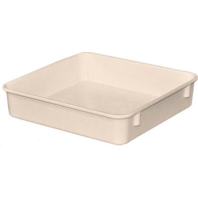 "Molded Fiberglass Toteline Nesting Tote 924108 - 9-3/4""L x 9-1/4""W x 2-1/8""H, White"