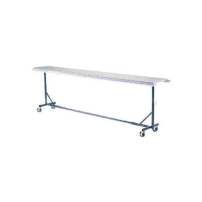 """Omni Metalcraft Portable Castered Conveyor Support 12""""W PTST9.75-23-39-10"""