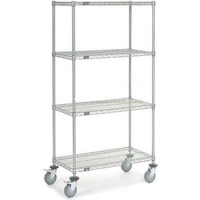 Nexelate Wire Shelf Truck 36 x 18 x 69 1200 Lb. Capacity