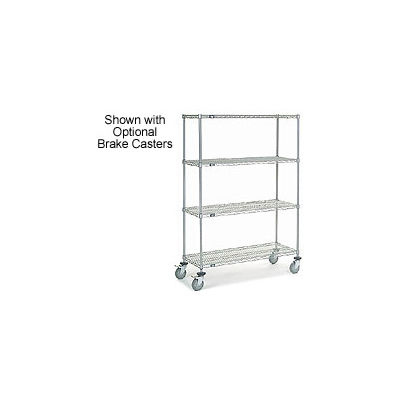 Nexelate Wire Shelf Truck 48x18x69 1200 Pound Capacity