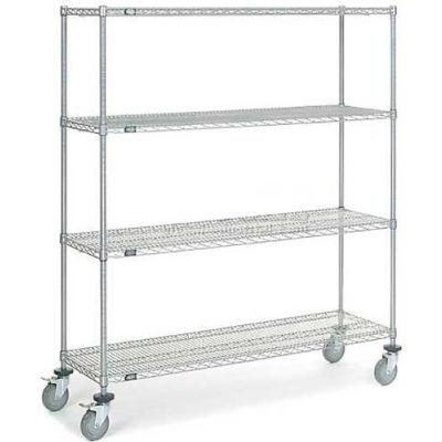 Nexelate Wire Shelf Truck 60 x 24 x 69 1200 Pound Capacity