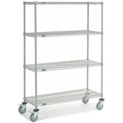 Nexel® Chrome Wire Shelf Truck 48x18x69 1200 Pound Capacity