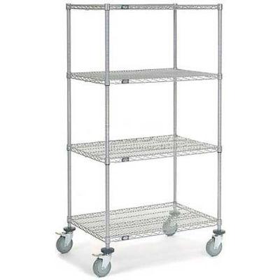 Nexel® Chrome Wire Shelf Truck 36x24x69 1200 Pound Capacity