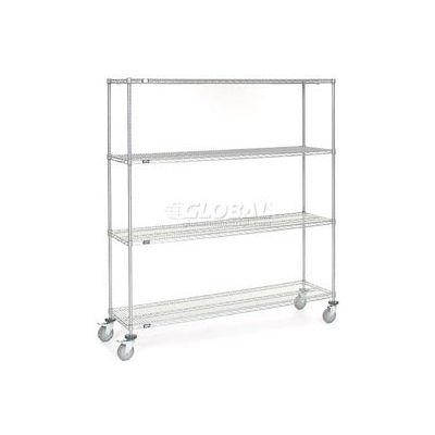 Nexel® Chrome Wire Shelf Truck 72x18x80 1200 Pound Capacity