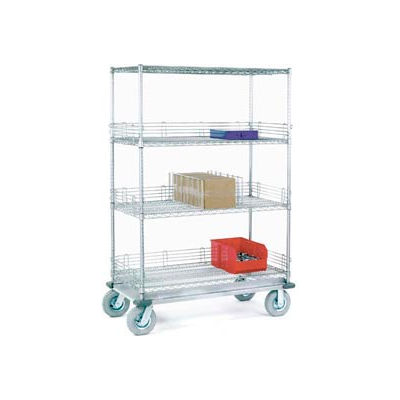Nexel® Chrome Wire Shelf Truck 36x18x83 1200 Pound Capacity