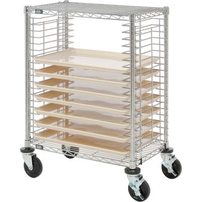 Nexel® Side Load Wire Tray Cart with 19 Tray Capacity