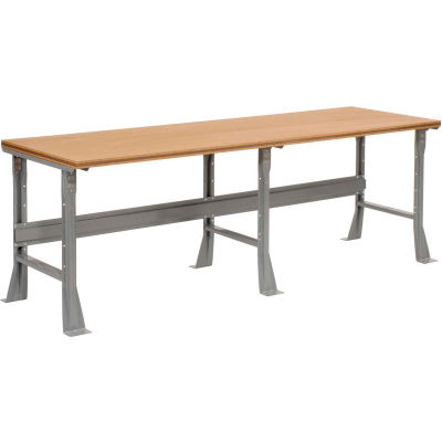Global Industrial™ 96 x 36 x 34 Fixed Height Workbench Flared Leg - Shop Top Square Edge - Gray