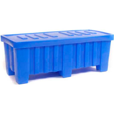 """Myton Forkliftable Bulk Shipping Container MTO-2 with Lid - 51-1/2""""L x 22-1/2""""W x 19""""H, Blue"""