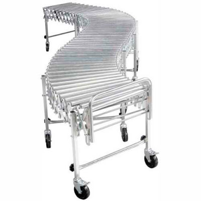 "NestaFlex® RLS24008S Portable Flexible 24""W Roller Conveyor 200 Lb./Foot"