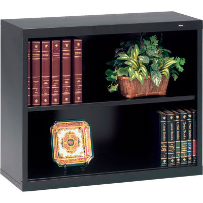 "Welded Steel Bookcase 28""H - Black"
