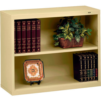 "Welded Steel Bookcase 28""H - Sand"