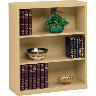 """Welded Steel Bookcase 40""""H - Sand"""