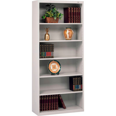 "Welded Steel Bookcase 78""H - Light Gray"
