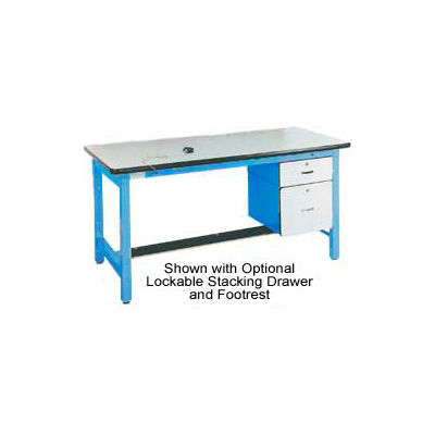 Pro-Line 60 X 30 HD6030ESD-HDLE-L14 Fixed Height Heavy Duty Workbench ESD Laminate Top - Blue