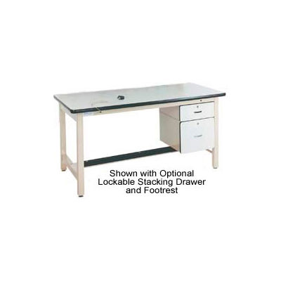 Pro-Line 72 X 30 HD7230ESD-HDLE-H11 Fixed Height Heavy Duty Workbench ESD Laminate Top - Beige