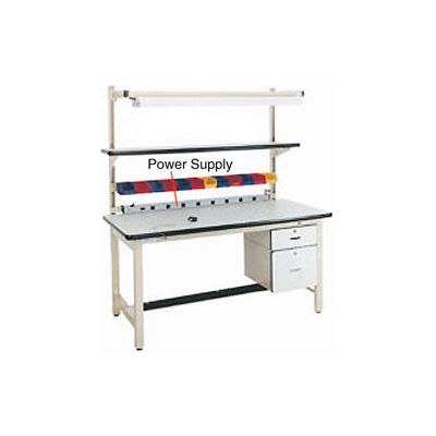 """72""""L Power Supply with Mounting Rail - Beige"""