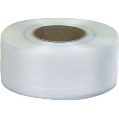 """Pac Strapping 8"""" x 8"""" Core Machine Grade Strapping, 12900'L x 3/8""""W x 0.022"""" Thick, White, 1 Pack"""