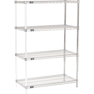 "Nexel® Chrome Wire Shelving Add-On - 36""W x 18""D x 54""H"