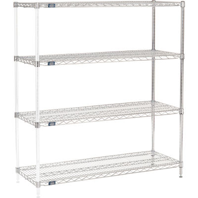 "Nexel® Chrome Wire Shelving Add-On - 48""W x 18""D x 54""H"